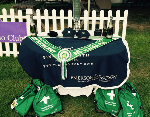 Trophy Table for Chairman's Cup, sponsored by Emerson & Watson